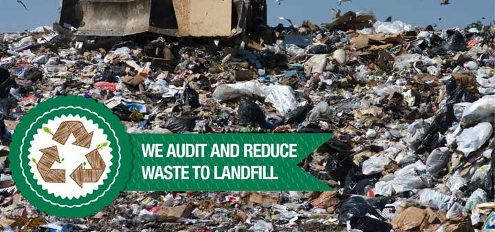We audit and reduce waste to landfill